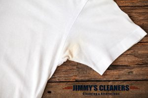 Deodorant stains on shirt